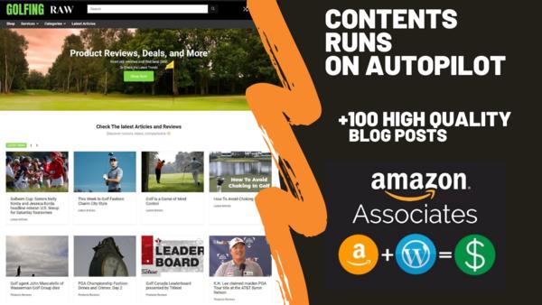 golfingraw.com - Starter Site for sale in the Golfing industry