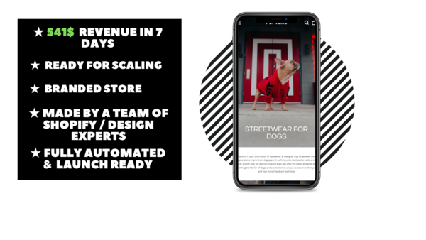 Pupvers.com - Branded Ecommerce Store With Clean & Modern Design Made By Professional Webdesign team. $541 Revenue Generated In 7 Days. Everything Is Automated.