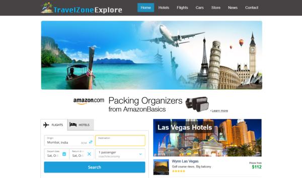 TravelZoneExplore.com - Fully Automated Hotel, Flight & Car Rental Website - Huge Profitable Travel Website, No Reserve