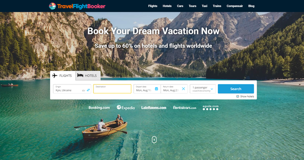 TravelFlightBooker.com - Automated Travel Site For Passive Income, Earn Up To $10k/mo on Flights, Hotels
