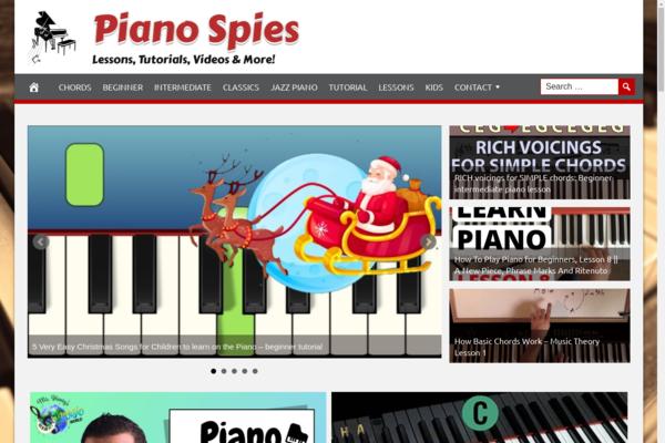 PianoSpies.com - Hot Niche Piano Videos- 100% Fully Automated - Ad Income - BIN Bonus