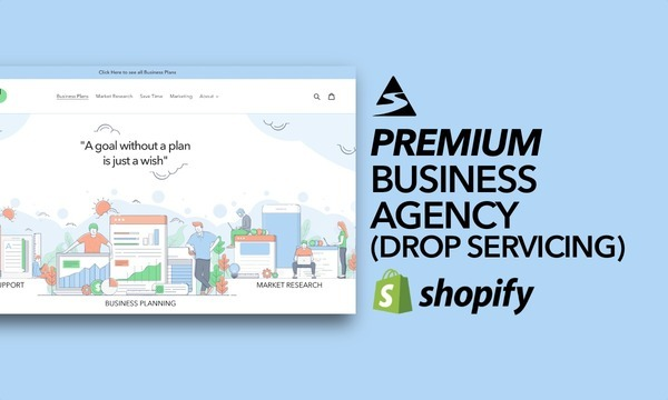 BusinessPlanHero.com - Shopify Starter Store For Sale, Specialising In Drop Shipping Business Service