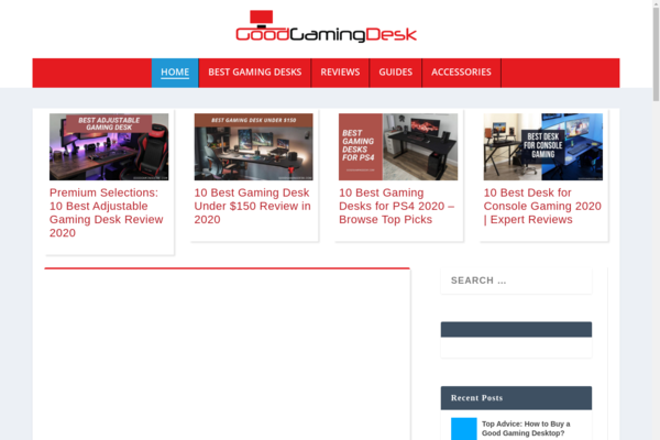 GoodGamingDesk.com - Amazon Review Site With Traffic And Sales - SEO optimized - Premium Design - 44 Original Articles - Well Researched Keywods - Adsense Compliant