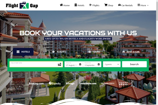FlightGap.com - Automated Travel Website, Earn Up To $10k/Mon On Flights, Hotels & Trip bookings