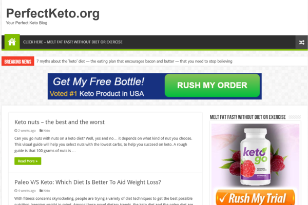 perfectketo.org - Established Lead Generation Website, getting paid $115 per lead. Getting consistent traffic, Easy to maintain and scale.