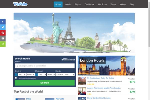 tripfolia.com - Automated Flights/Hotel/Car/Tours Search Engine. EASY $1-4/Lead on Autopilot.