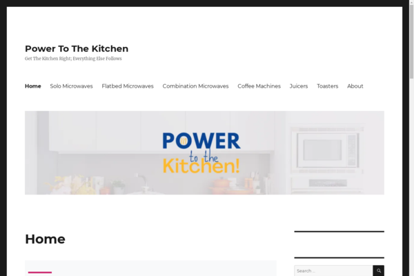 powertothekitchen.co.uk - Great Website For Sale In Home Appliances Niche