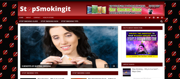 stopsmokingit.com - Hot Niche - Stop Smoking Automated Blog Website For Passive Income, Earn Up To $5k/mo. Make Money Online from Amazon, ClickBank, Affiliate Programs.