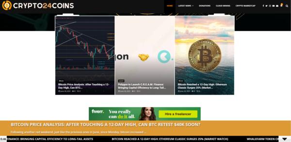 crypto24coins.com - Crypto24Coins.com - Fully Autopilot Crypto News Site (Earn Up To $5K/Month!)