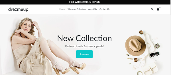 drezmeup.com - Stater site for sale in Fashion industry (women's clothes)