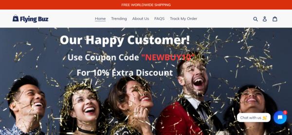 """flyingbuz.com - Premium Domain """"FLYINGBUZ """" Wining Product - 4K $ sales,Facebook video ad copy"""