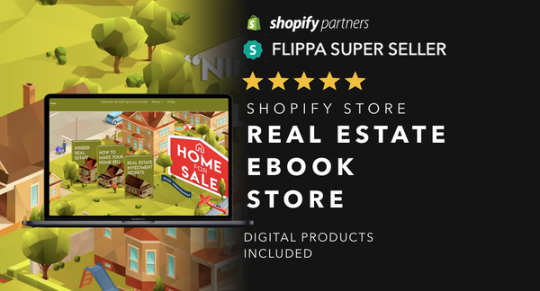 RealEstateGuideStore.com - Password: 1234 | Real Estate Ebook Shopify Store For Sale Startup Streams