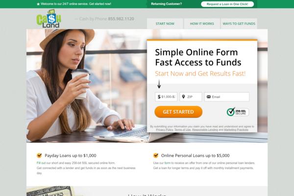 CashLand.us - CashLand.us - Payday Loans Affiliate Site