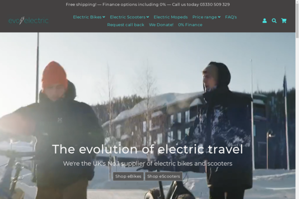 evoelectric.co.uk - Online electric bike and scooter retailer