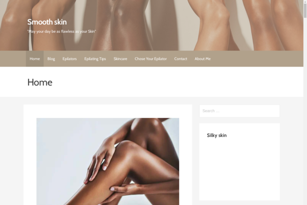 smoothskinforyou.com - Beauty Niche Related Amazon affiliate Website Ranked Adsense Approved