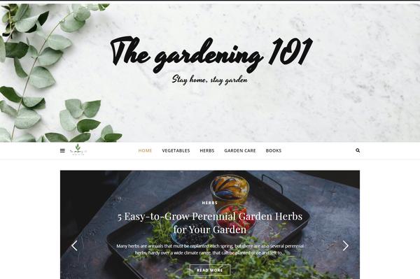 thegardening101.com - Starter Site for sale in gardening industry