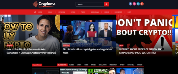 cryptonss.com - Fully Automated Crypto Currencies Video Blog, Auto-Shop - Free Hosting