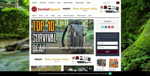 SurvivalAspects.com - Automated Survival Niche Blog To Make Money Online from Amazon Affiliate Program