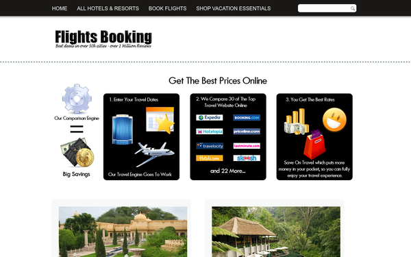FlightsBooking.site - Passive Income Upto $10k/m Automated Flights & Hotels Booking No Exp Required