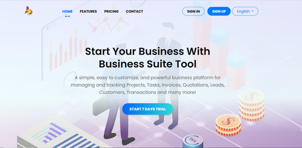 businesssuitetool.xyz - Start your own SaaS Business with Multi Company Business Platform