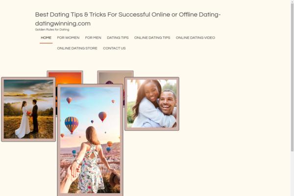 datingwinning.com - DATING TIPS Blog-Huge & Lucrative Niche-Pro Design-$1.5KBINBonus-NEWBIE Friendly