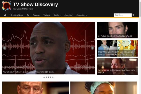 TVShowDiscovery.com - Fully Automated TV Show News Website - 1 Year Free Hosting BIN + Great Bonuses