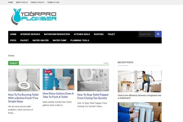 yourproplumber.com - A website for plumbing This site earn $200+ on average for last 2+ years