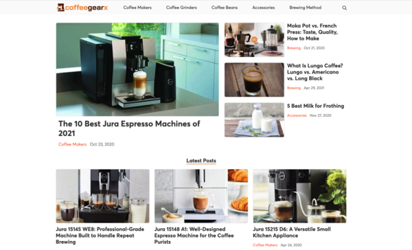 coffeegearx.com - Advertising / Food and Drink