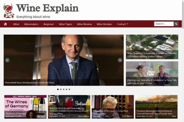 WineExplain.com - Popular Niche WINE Guide and Reviews, Fully Automated, Ad Profit, BIN Hosting