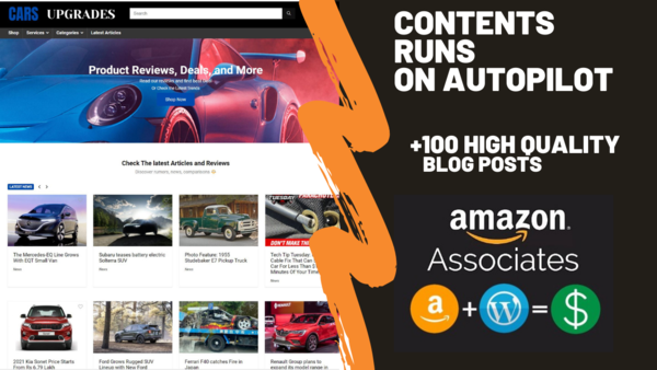 carsupgrades.com - Starter Site for sale in the Cars industry