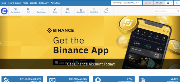 Cryptocurrency Prices, Charts And Market Capitalizations - Cryptocurrency Real-time Trackers, Crypto Prices, Live Graph, Ads, Crypto News, ICOs Info and Listings, Earn with crypto affiliate programs.