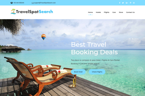 TravelSpotSearch.com - 100% Automated Hotel, Flight & Car Rental Website - Top Profitable, No Experience Required.