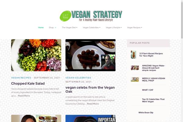 VeganStrategy.com - Fully Automated Vegan Lifestyle Site - 90 Days Free Hosting BIN + Great Bonuses!