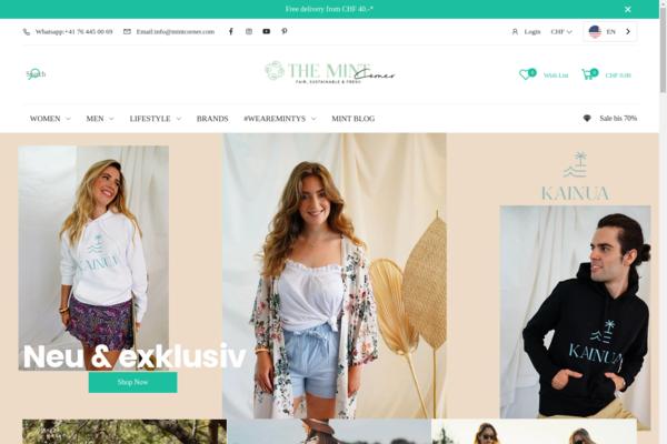 themintcorner.com - Sustainable & Fairtrade Fashion, Accessoires, Beauty & Home Shop incl. stock