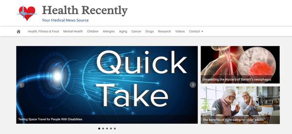 HealthRecently.com - Fully Automated Medical News News Site - 1 Year Free Hosting BIN + Great Bonuses