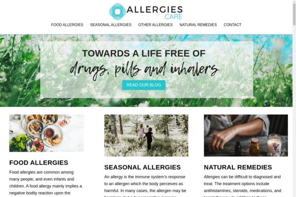 allergiescare.com - Website for sale in the Allergies niche