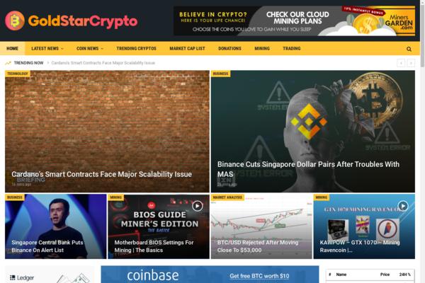 GoldStarCrypto.com - Autopilot Crypto Bitcoin News Magazine Blog To Make Money Online