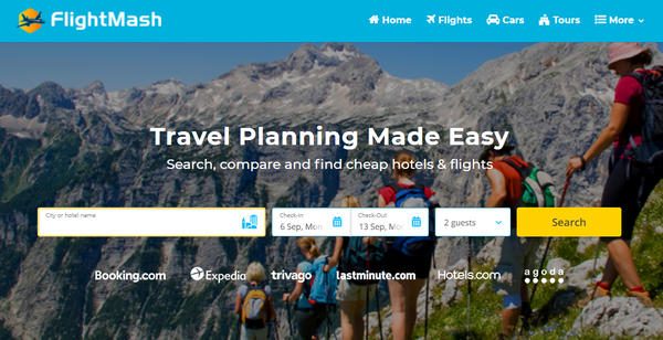 FlightMash.com - Automated Travel Website, Earn Up To $10k/Mon On Flights, Hotels & Trip bookings
