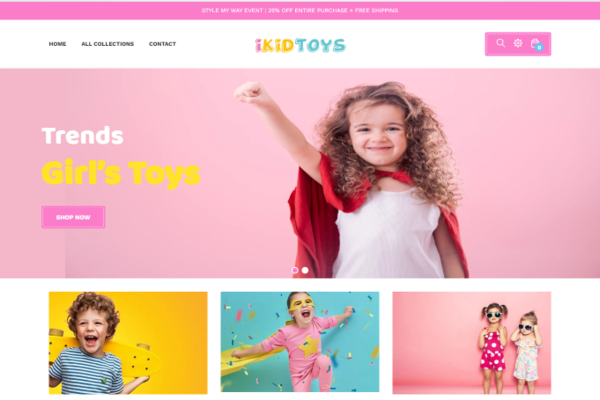 Automated  Kids Toys Dropshipping Store - ( Password : 222 )  Kids Toys Dropshipping Store,  A great online business can earn up to $900/day