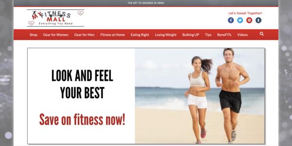 MyFitnessMall.com - Optimized, 100% Automated Fitness Estore Affiliate/Blog. Newbie Friendly.