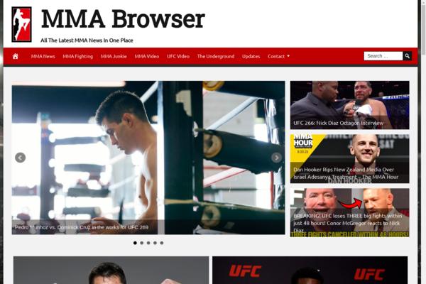 MMABrowser.com - 100% Automated, Premium Design, Hot Niche MMA Website, Amazon, Ad Profit