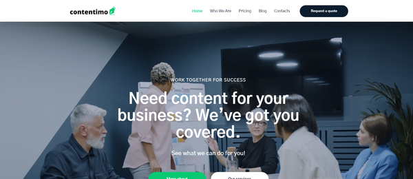 contentimo.com - Hot Automated Copywriting Company. Newbie Friendly and Outsourced Business.