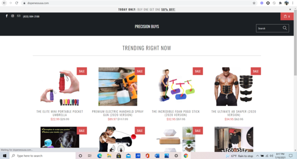 dopenessusa.com - Ready to use Shopify Dropshipping Template/Theme