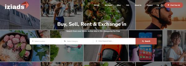 iziads.com - Classified Ads Startup with Premium Design & Killer Domain Name.