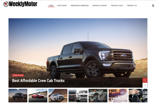 weeklymotor - A one year automotive niche website located in USA / revenue from Google Adsense with 800 daily visits from google and yahoo bing  .