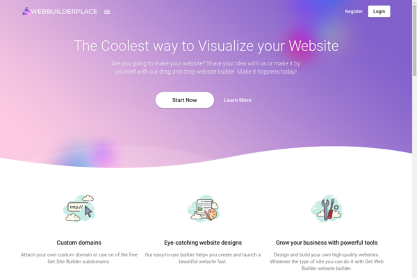 Web Builder Place - WIX like SaaS Business with Drag and Drop Website Builder