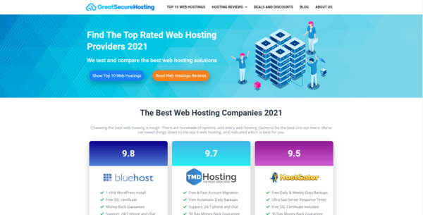 GreatSecureHosting.com - Hosting Affiliate Site To Make Money Online, Earn Up To $10k/Month