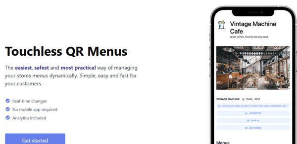 stunningmenu.com - Start a business with this Contact-less Restaurant QR Code Menu Maker SaaS