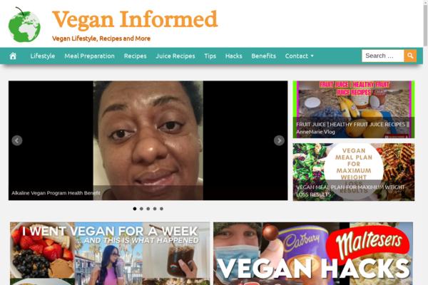 VeganInformed.com - Popular Vegan Niche - High CTR Design - BIN Bonus - Fully Automated