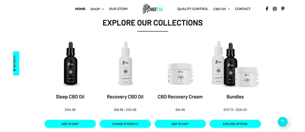 chiefcbdco.com - e-Commerce / Health and Beauty